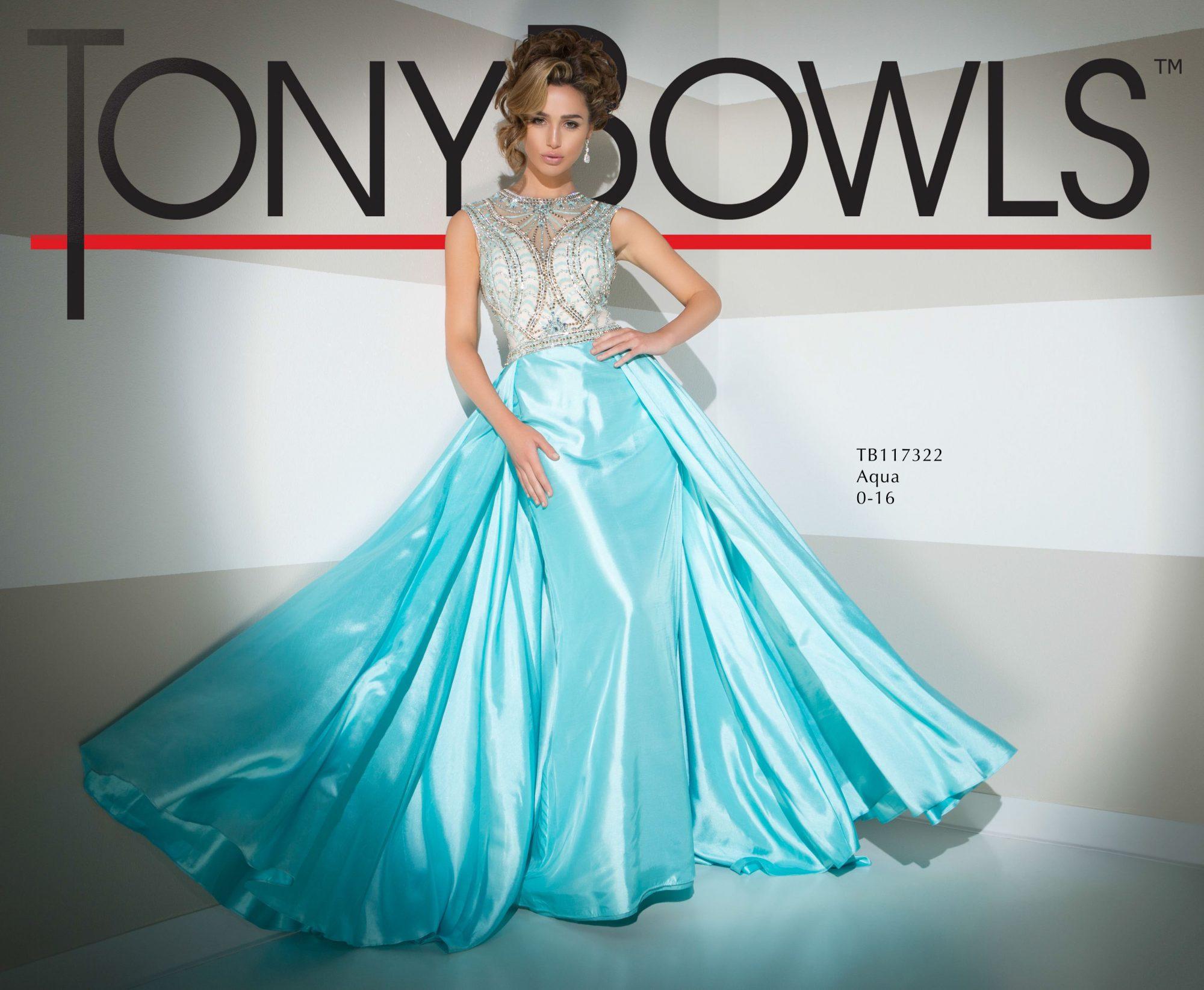 Tony Bowls Prom Dresses Turquoise