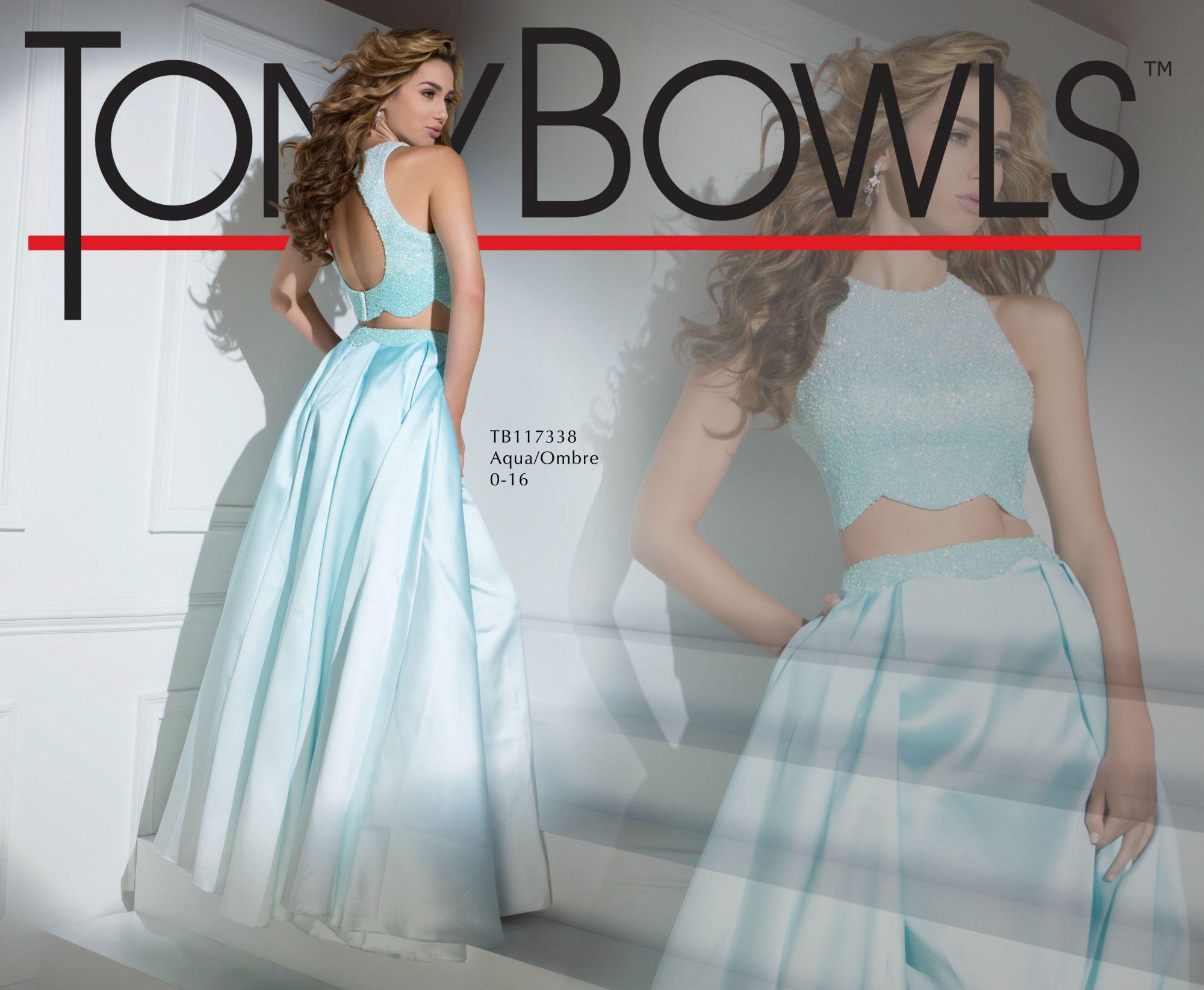 Tony Bowls 117338 Aqua Ombre Two-Piece